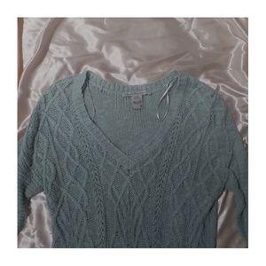 american rag blue v-neck sweater